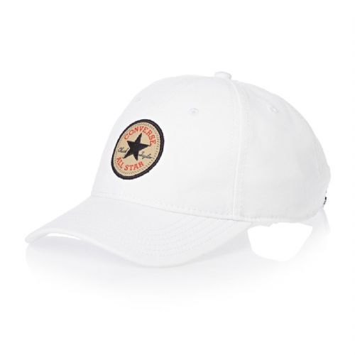 CONVERSE MENS BASEBALL CAP.NEW WHITE ADJUSTABLE SNAPBACK CURVED PEAK HAT CON301